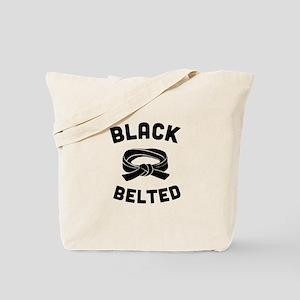 Black Belted Tote Bag