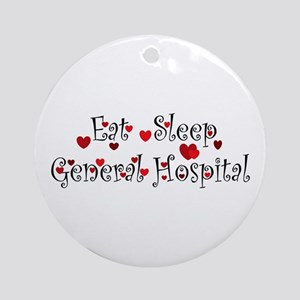 General Hospital heart eat sleep large Ornament (R