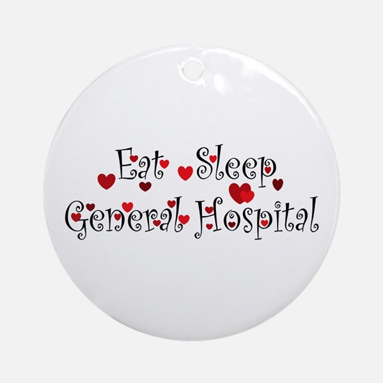 General Hospital heart eat sleep large Ornament (R