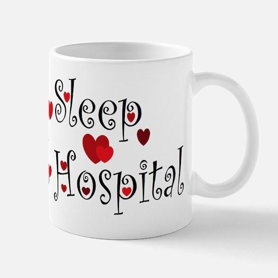 General Hospital heart eat sleep large Mug