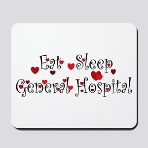 General Hospital heart eat sleep large Mousepad