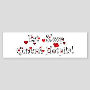 General Hospital heart eat sleep large Bumper Stic