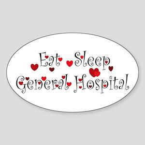General Hospital heart eat sleep large Sticker
