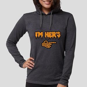 Halloween I'm Her's Womens Hooded Shirt