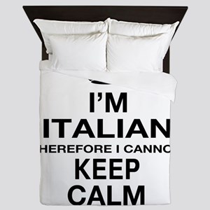 Keep Calm and Italian pride Queen Duvet