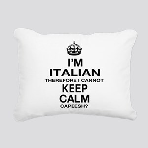 Keep Calm and Italian pride Rectangular Canvas Pil