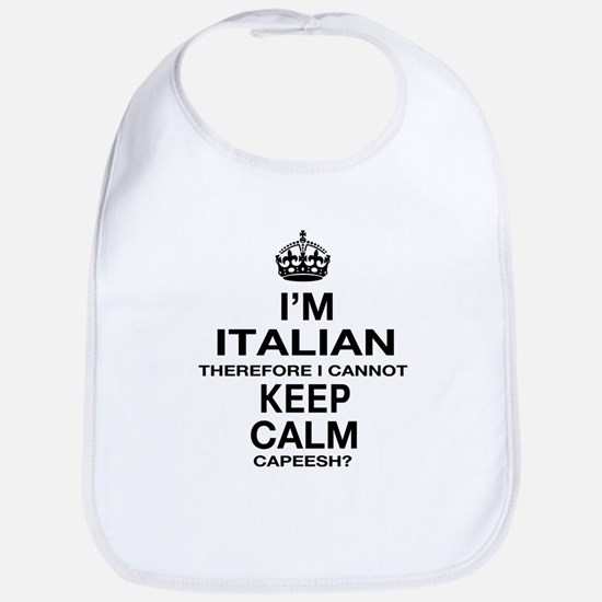 Keep Calm and Italian pride Bib