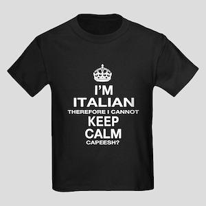 Keep Calm and Italian pride Kids Dark T-Shirt