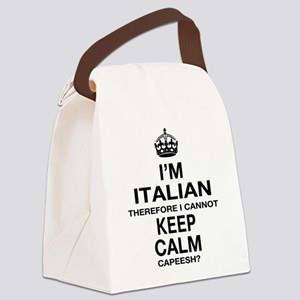 Keep Calm and Italian pride Canvas Lunch Bag