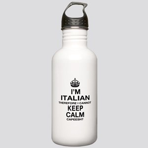 Keep Calm and Italian pride Stainless Water Bottle
