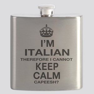 Keep Calm and Italian pride Flask