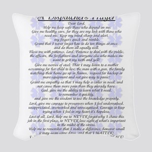 DISPATCHERS PRAYER Woven Throw Pillow