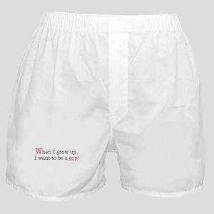 ... a cop Boxer Shorts