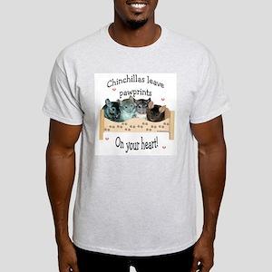 Chin Pawprints Ash Grey T-Shirt