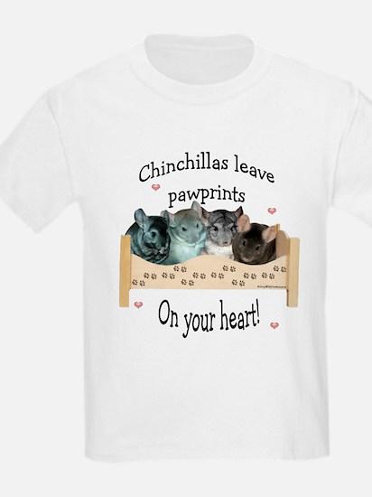Chin Pawprints Kids T-Shirt