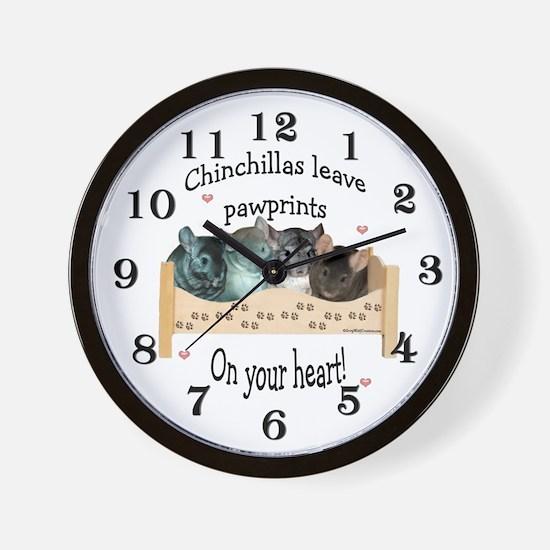 Chin Pawprints Wall Clock
