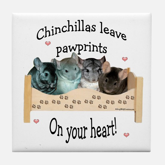 Chin Pawprints Tile Coaster