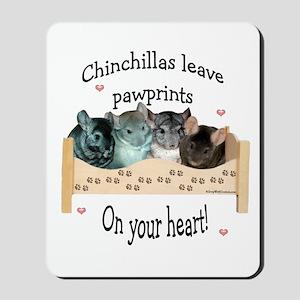 Chin Pawprints Mousepad