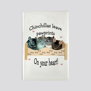 Chin Pawprints Rectangle Magnet