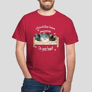 Chin Pawprints Dark T-Shirt