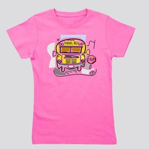 j0410911_school bus Girl's Tee