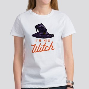 Halloween I'm His Wi Women's Classic White T-Shirt