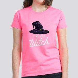 Halloween I'm His Witch Women's Dark T-Shirt