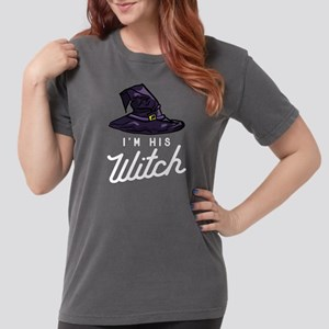 Halloween I'm His Witc Womens Comfort Colors Shirt