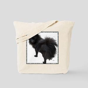 Black Pomeranian Tote Bag
