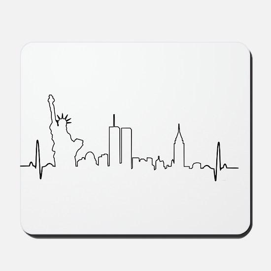 New York Heartbeat Mousepad