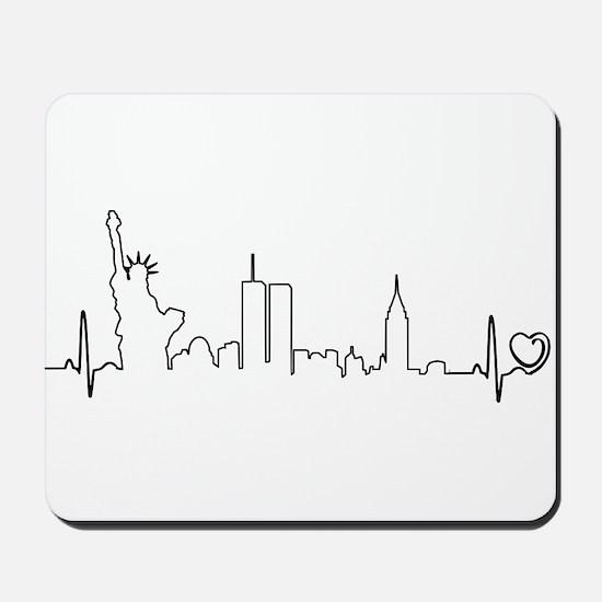 New York Heartbeat (Heart) Mousepad