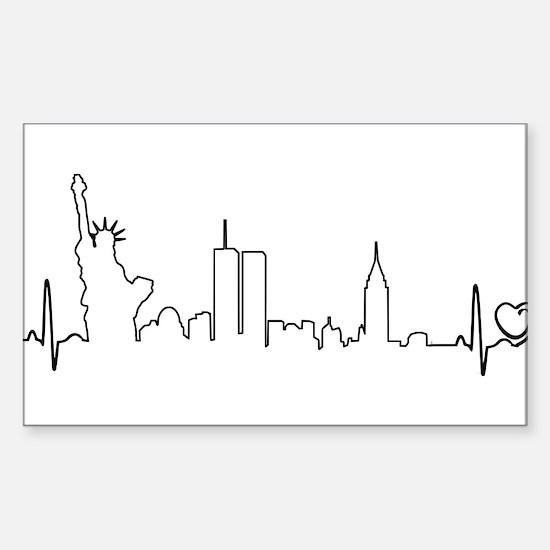 New York Heartbeat (Heart) Decal