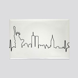 New York Heartbeat (Heart) Rectangle Magnet
