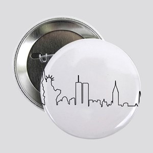 "New York Heartbeat (Heart) 2.25"" Button"