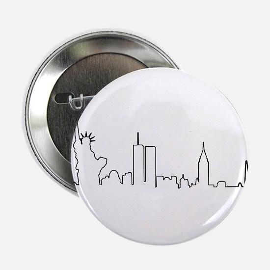 """New York Heartbeat (Heart) 2.25"""" Button"""