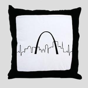 St. Louis Heartbeat Throw Pillow