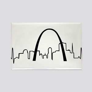 St. Louis Heartbeat Rectangle Magnet