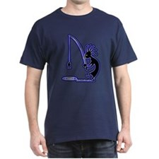 Kokopelli Fisherman Dark T-Shirt