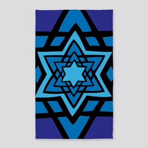 Blue star 3'x5' Area Rug