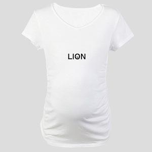 Logo Black and White Maternity T-Shirt