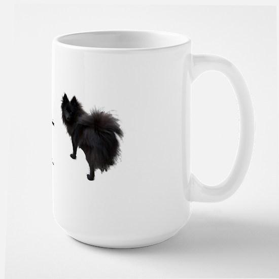 Black Pomeranian Large Mug