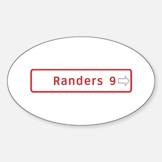 Roadmarker, Randers - Denmark Oval Decal