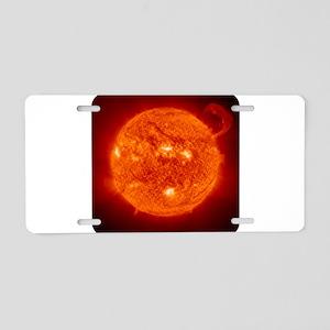 The Sun Aluminum License Plate