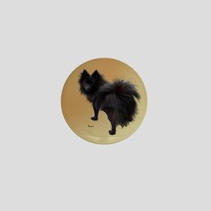 Black Pomeranian Mini Button