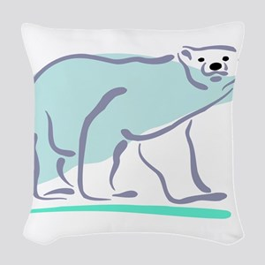 Bear100-polar Woven Throw Pillow