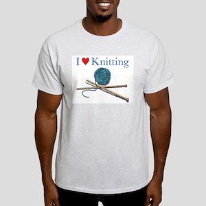 I heart Knitting Ash Grey T-Shirt