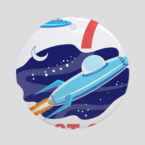 Outer Space 7th Birthday Ornament (Round)