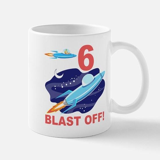 Outer Space 6th Birthday Mug