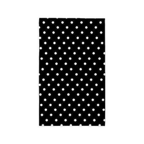 Black And White Polka Dot 3u0027x5u0027 Area Rug