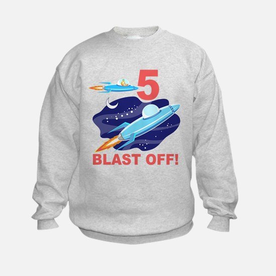 Outer Space 5th Birthday Sweatshirt